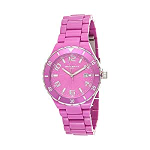 Mount Royale Women's Pink Dial Plastic Band Watch - 21038