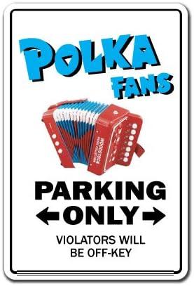 POLKA FAN Sign music dance song concert cd gift Polish Poland German accordion