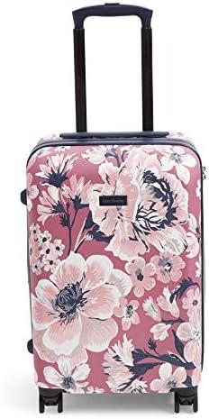 Vera Bradley Women s 22 Hardside Rolling Suitcase Luggage, Strawberry Grand Garden, One Size