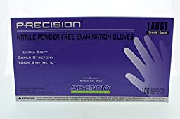 Adenna Precision 4 mil Nitrile Powder Free Exam Gloves (Violet, Large) Box of 100