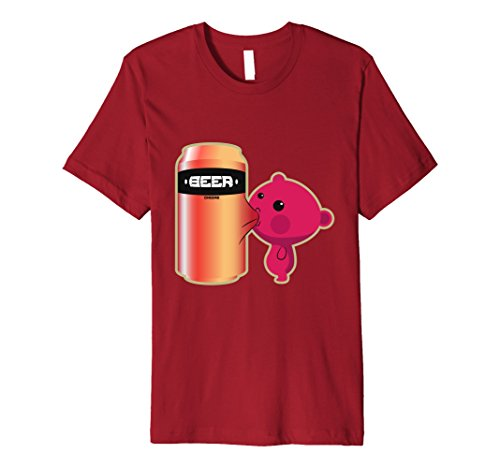 Mens Beer T-Shirt - Humorous Novelty Funny Graphic Beers T-Shirts XL Cranberry (Spirit Halloween Beer Pong)