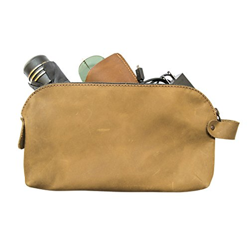 Large All Purpose Dopp Kit Utility Bag (Cords, Chargers, Tools, School / Office Supplies) Handmade by Hide & Drink :: Café Con - Burberry Bags Usa