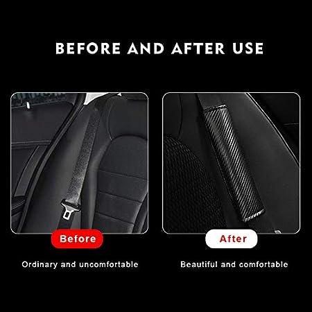 Pangtyus 2 Pcs Carbon Fiber Leather Car Seat Belt Cover,for Honda Type R,Car Seat Belt Shoulder Pads Car Accessories
