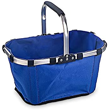 Amazon.com: Market Basket, Sarissa Collapsible&Reusable Fabric Picnic Tote Lightweight Basket
