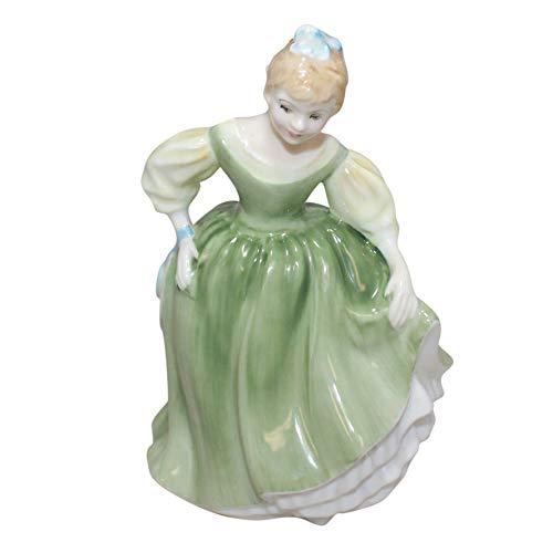 (Royal Doulton figurine - HN2211 - Fair Maiden - green dress in gloss finish - GC27)