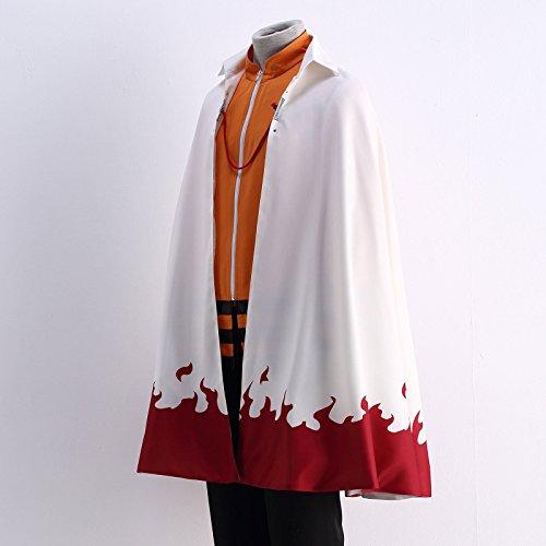 OURCOSPLAY US Size Men's Uzumaki Cloak 7th Hokage Cloak Boruto Cosplay Costume (Men US XL) by OURCOSPLAY (Image #2)