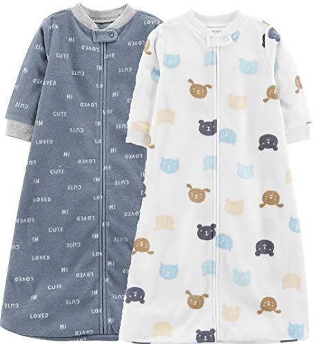 Carter's Baby 2-Pack Microfleece Sleepbag (Turquoise/Ivory, Small)