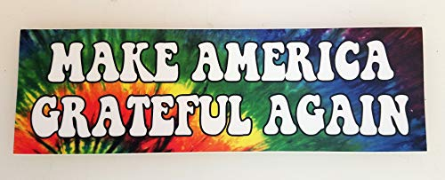 Minglewood Trading Make America Grateful Again Vinyl Bumper Sticker - Grateful Dead Jerry Garcia - Tie Dyed MAGA