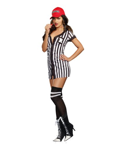 Hot Referee Costume (Dreamgirl Women's My Game My Rules Costume, Multi,)
