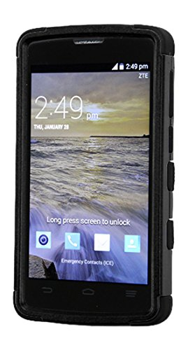 quality design e780c fed38 MyBat Cell Phone Case for ZTE N817 - Retail Packaging - Black