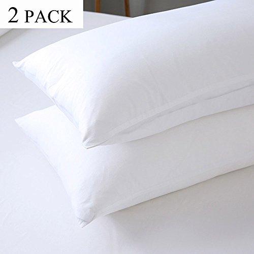 HIPPIH 2 Packs Standard Pillow Protector - Waterproof Zipper