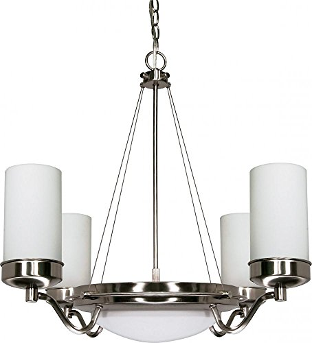 Nuvo 60/607 6 Light Chandelier with White Opal Glass