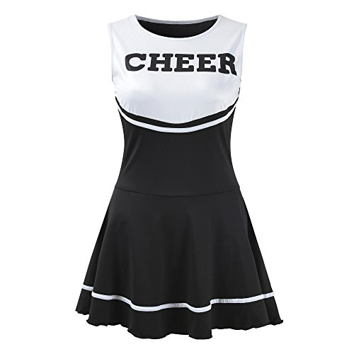 OurLore Women's Musical Uniform Fancy Dress Cheerleader Costume Outfit (Black)]()