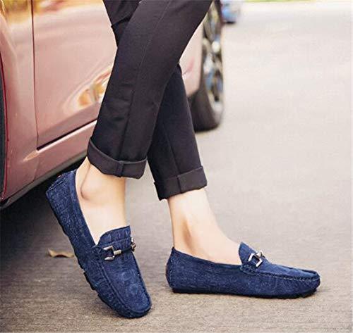 D'affaires Conduite 42 a Formelle Chaussures Slip Casual amp; Semelles Cuir De Beanie Mocassins Printemps A Légères on Pour Hommes Mmj Marche 0Wqwf1wT