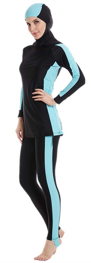 Women Muslim Swimwear Islamic Burkini Full Cover Hijab Modest Swimsuit