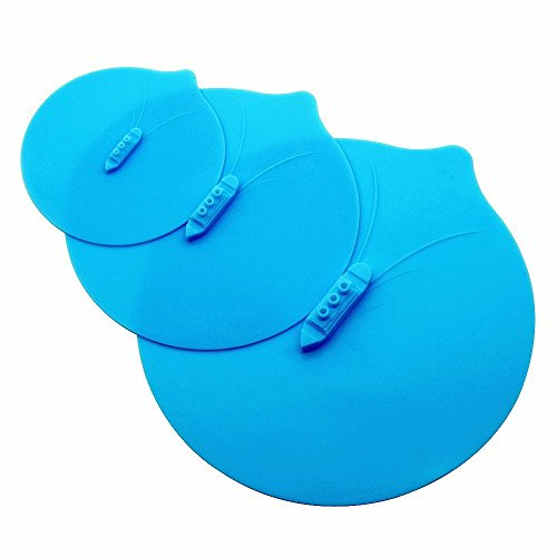 Agile-Shop Steam Ship Silicone Steamer Lid Food Covers Cute Design Steaming Pot Lids and Bowl Covers Keep Food Fresh, Pack of 3