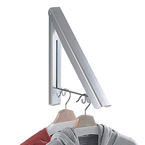 BESy Adhesvie Folding Clothes Hanger Adjustable Drying Rack