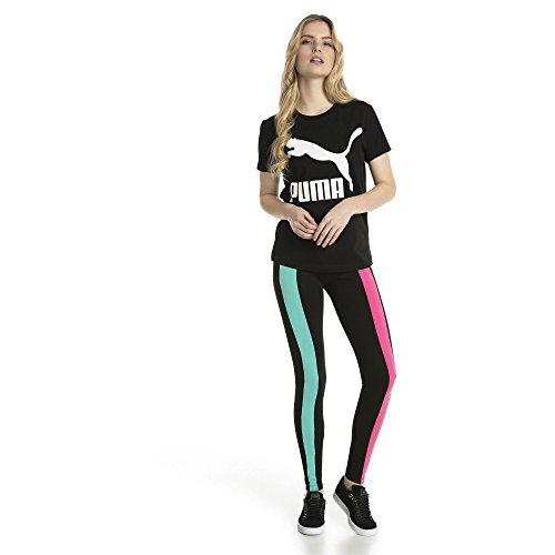 Classics Cotton shirt Logo T Mujer Black Puma Ffw4pqp