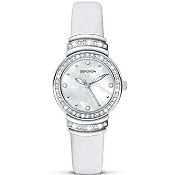 df3d8260b095 SEKONDA LADIES WHITE MOTHER OF PEARL DIAL 2273: SEKONDA: Amazon.co.uk:  Watches