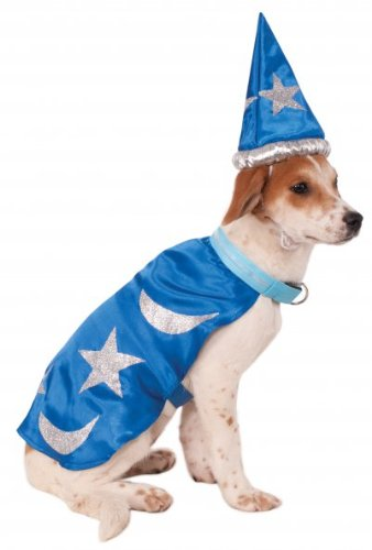 Rubie's Wizard Cape with Headpiece and Light-Up Collar Pet Costume, -