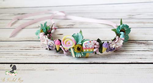 Candy Flower Crown - Candy Costume - Candy