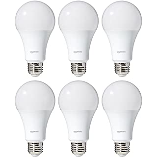 AmazonBasics 100 Watt Equivalent, Soft White, Dimmable, 15,000 Hour Lifetime, A21 LED Light Bulb | 6-Pack