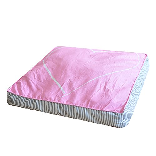 Asweets Heart Floor Cotton Canvas Cushion for Teepees and Play Tents, Pink
