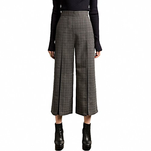 Pleated Blouse & High Waist Pants - 3