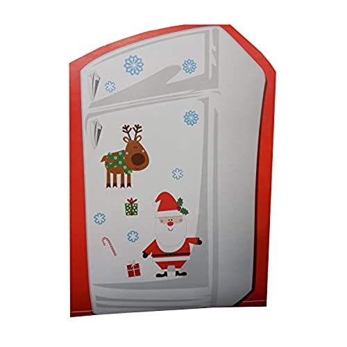 nice decorate office door. Christmas Themed Magnet Decoration Set For Refrigerator Or Metal Door (Santa Claus With Reindeer) Nice Decorate Office N