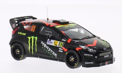 Ford Fiesta RS WRC, No.63, Monster, Rallye WM, Rallye Monza, 2011, Model Car, Ready-made, IXO 1:43