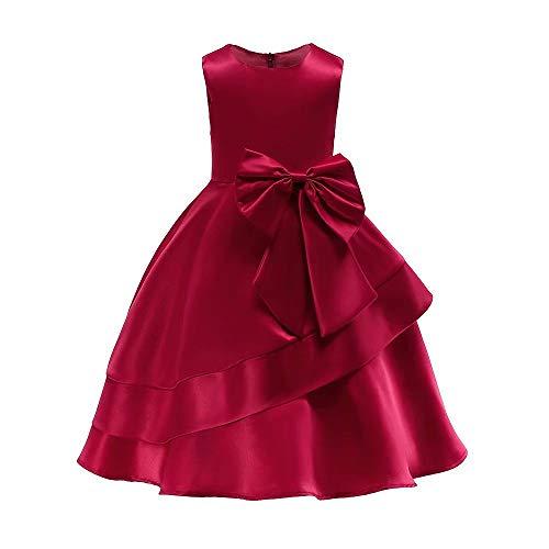 d252bb404b2 AYOMIS Litter Big Girl Flower Dress Princess Bow Party Wedding Tutu Gowns