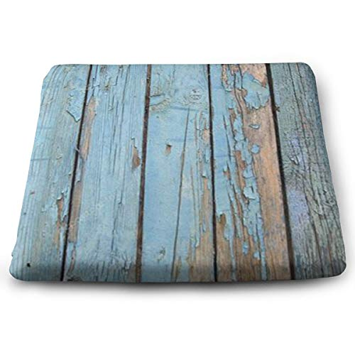 FANGT Old Barn Stripes Wood Wallpaper Chair Pads, Square Chair Seat Pads Cushion with Choice, fo ...