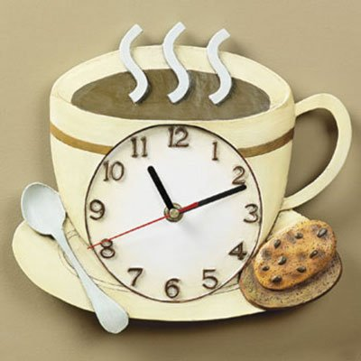 amazoncom coffee cup latte cappucino kitchen wall clock home kitchen. beautiful ideas. Home Design Ideas
