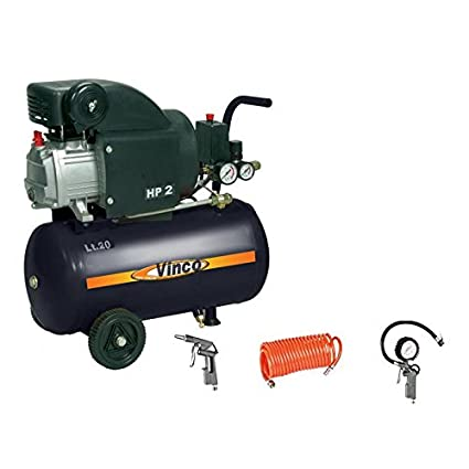 Compresor lubrificato Aceite 2 HP 20 Lt. Vinco 60609 con kit accesorios
