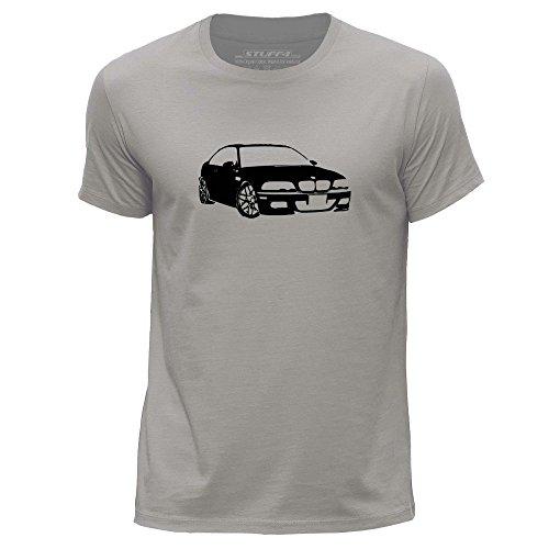 STUFF4 Uomo/XX Grande (XXL)/Grigio Chiaro/Girocollo T-Shirt/Stampino Auto Arte / M3 E46