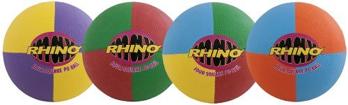 Champion Sports Four Square Playground Ball Set (Multi) ()