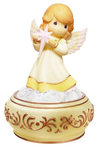 - Precious Moments PWP Angel Holding Nativity Star Musical Joy to The World