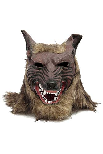 COSMOVIE Scary Wolf Head Mask Halloween Cosplay Party Props Horror Grimace Role Play Masks