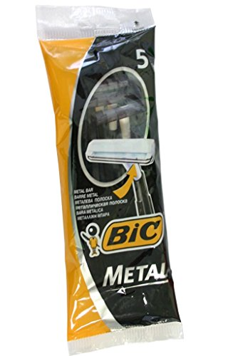 Bic Metal Men's Disposable Shaving Razors, 5-Count x 10 Packs - Disposable Metal