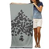 Super Absorbent Beach Towel Heart Tree Poker Polyester Velvet Beach Towels 31.551.2 Inch