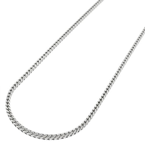 14k White Gold 1.5mm Solid Franco Square Box Link Necklace Chain 16
