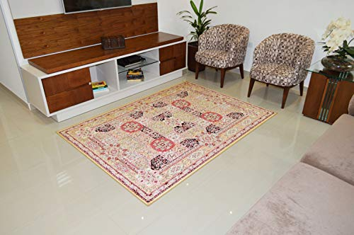 Tapete Marbella Imperial Isfahan Rayza Pathwork Multicor 0.48 X 0.90 m