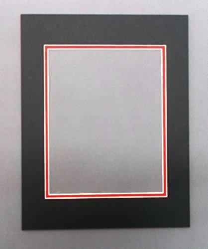 Amazon.com: 20x24 Black & Bright Red Double Picture Mats Bevel Cut ...