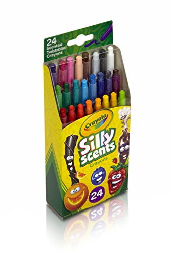 Crayola Silly Scents Twistables Crayons, 24 Classic Crayola Colors Non-Toxic Art Tools for Kids 3 & Up, Scented Self-Sharpening No Mess Twist-Up Crayons, Great for Kids Classrooms or -