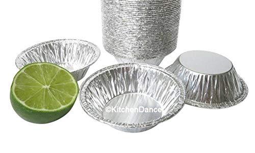 KitchenDance 3 Disposable Aluminum Tart Pans/Mini Pie Pans w/Lid Options #301- Pack Of 100 (Without Lids)