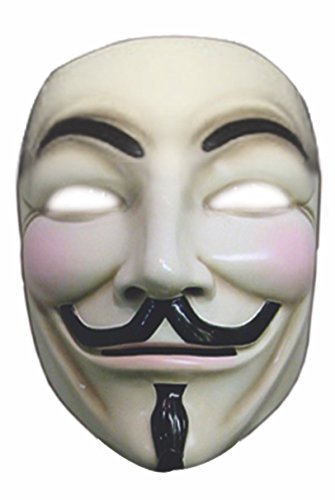 V For Vendetta Collector's Edition Mask Costume,One Size,Multicolor -