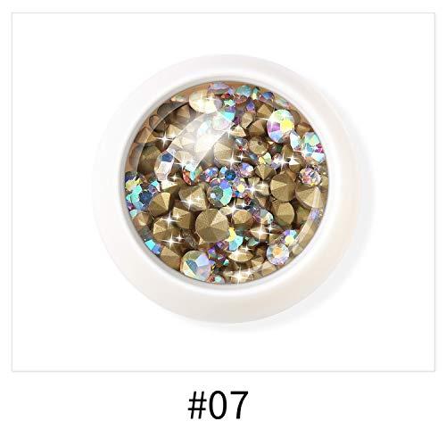 Bohr-House 8 Colours 3D Nail Diamonds Rhinestone Decoration For Nail Bead Decoration For Nail Crystals Small Glass Crystal,07