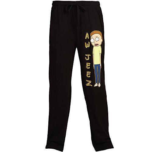 Rick and Morty Aw Jeez Morty Adult Lounge Pants - Black (XXX-Large)