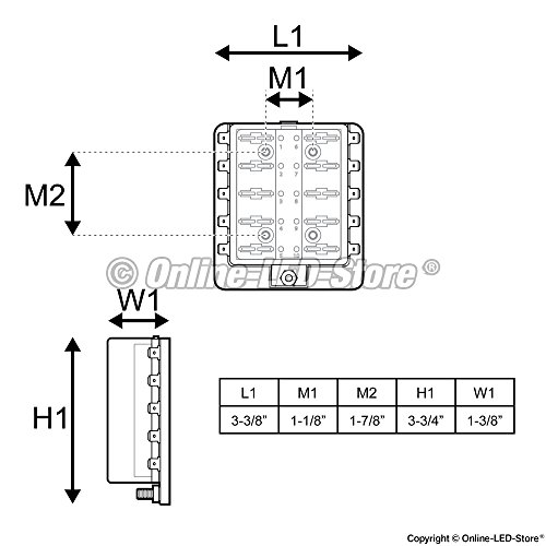 41AVlLt464L ols 10 way blade fuse box [led indicator for blown fuse] import old fuse box diagram at bakdesigns.co