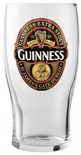 Guinness Gold Label Pint Glass